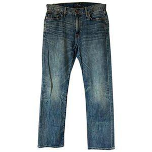 Lucky Brand Blue Light Wash L W Straight Leg Jeans
